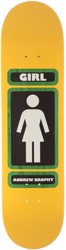Girl Brophy 93 Til 8.25 Skateboard Deck - yellow/green/black