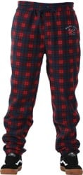 Dark Seas Chateau Polar Fleece Sweatpants - red/blue