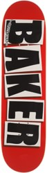 Baker Brand Logo 7.88 Skateboard Deck - red/black/white