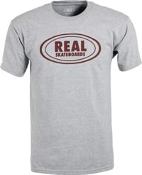 Real Oval T-Shirt - athletic heather/burgundy