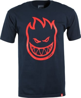 Spitfire Bighead T-Shirt - navy/red print - view large