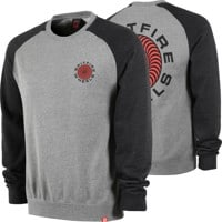 Spitfire Classic 87' Swirl Crew Sweatshirt - gunmetal heather/black/red/black