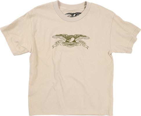 Anti-Hero Kids Basic Eagle T-Shirt - sand/olive - view large