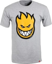 Spitfire Bighead Fill T-Shirt - athletic heather/gold