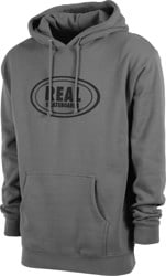 Real Oval Hoodie - solid charcoal/black