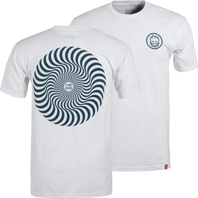 Spitfire Classic Swirl T-Shirt - white/dark teal - view large