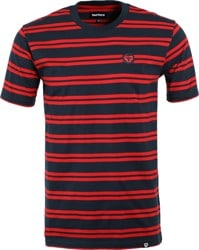 Tactics Icon Stripe T-Shirt - navy/red