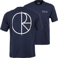 Polar Skate Co. Stroke Logo T-Shirt - rich navy/white