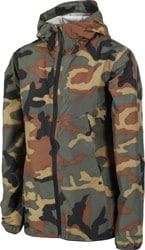 Herschel Supply Women's Voyage Packable Windbreaker Jacket - woodland camo