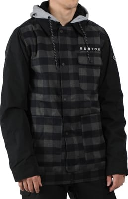 Burton Dunmore Insulated Jacket - true black heather buffalo plaid - view large