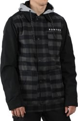 Burton Dunmore Insulated Jacket - true black heather buffalo plaid