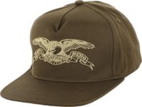 Anti-Hero Basic Eagle Snapback Hat - olive