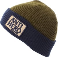 Anti-Hero Reserve Patch Beanie - navy/olive