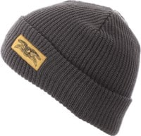 Anti-Hero Stock Eagle Label Cuff Beanie - charcoal