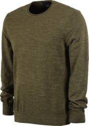 Pendleton Roll Neck Crew Sweatshirt - olive green