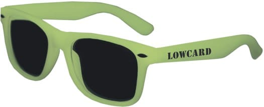 Lowcard 2 Card Sunglasses - glow in the dark - view large