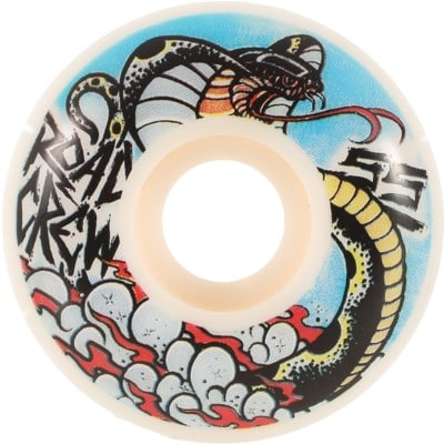 Road Crew Serpent Skateboard Wheels - white (99a) - view large