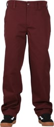 Theories Stamp Work Pants - wine