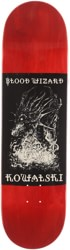 Blood Wizard Kowalski Occült Dragon 8.5 Skateboard Deck - red