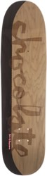 Chocolate Anderson Original Chunk 8.5 Skidul Shape Skateboard Deck - black/tan split