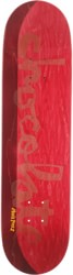 Chocolate Perez Original Chunk 8.375 Skateboard Deck - maroon/red split