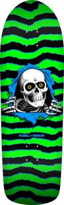Powell Peralta Old School Ripper 10.0 Skateboard Deck - green/black - view large