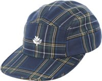 Magenta Plant 5-Panel Hat - navy tartan