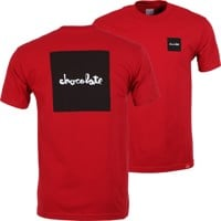 Chocolate Square T-Shirt - cardinal