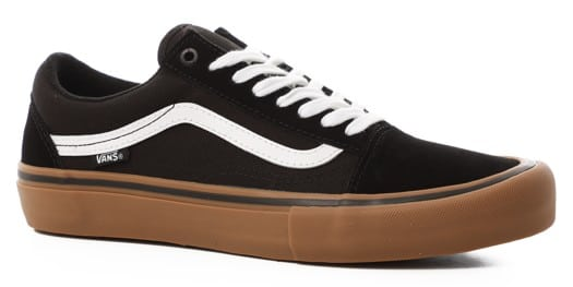 Vans Old Skool Pro Skate Shoes - black/white/medium gum 2019 - view large