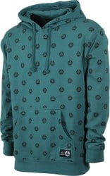 Welcome Tali-Dot French Terry Hoodie - dusty teal/black
