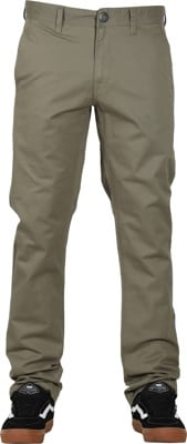 Volcom Frickin Slim Chino Pants - army green combo - view large