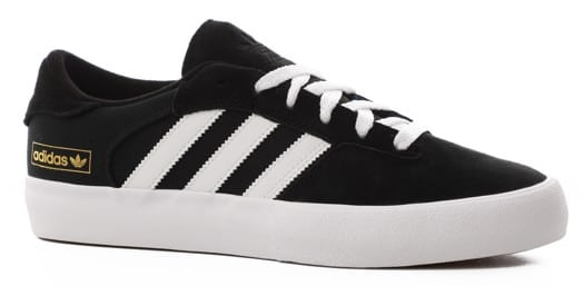 Adidas Matchbreak Super Skate Shoes - core black/footwear white/gold metallic - view large
