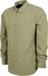 Volcom Oxford Stretch L/S Shirt - moss stone