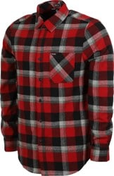 Volcom Caden Plaid Flannel Shirt - deep red/grey