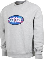 Adidas Oval Crew Sweatshirt - light grey heather