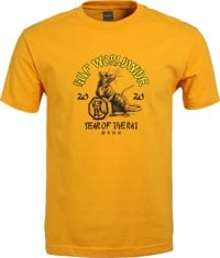 HUF Year Of The Rat T-Shirt - gold