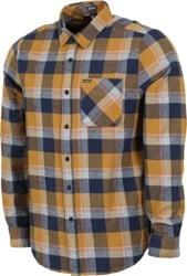 Volcom Caden Plaid Flannel Shirt - bronze
