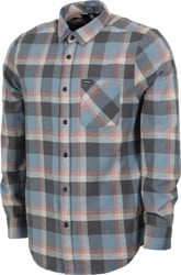 Volcom Caden Plaid Flannel Shirt - storm blue