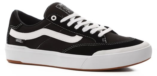 Vans Berle Pro Skate Shoes - black/true white - view large