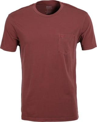RVCA PTC 2 Pigment T-Shirt - oxblood red - view large