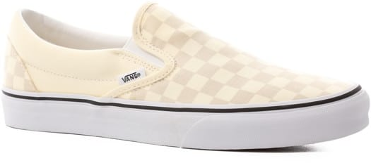 Vans Classic Slip-On Shoes - (checkerboard) classic white/true white - view large