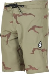 Volcom Lido Solid Mod-Tech Boardshorts - light army