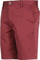 RVCA Week-End Stretch Shorts - oxblood red
