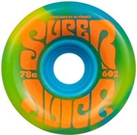 OJ Super Juice Skateboard Wheels - blue yellow swirl (78a)