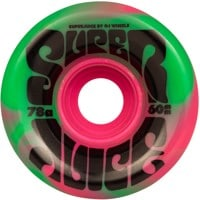 OJ Super Juice Skateboard Wheels - pink green swirl (78a)