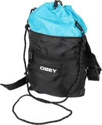 Obey Commuter Cinch Top Bag - black/sky blue
