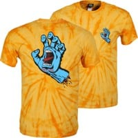 Santa Cruz Screaming Hand T-Shirt - spider gold