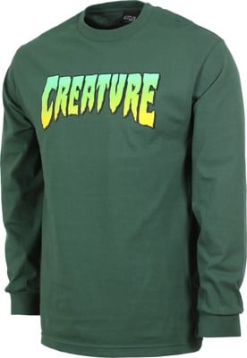 Creature Logo L/S T-Shirt - forest green - view large