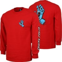 Santa Cruz Screaming Hand L/S T-Shirt - red