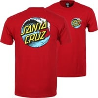 Santa Cruz Wave Dot T-Shirt - cardinal/blue/yellow